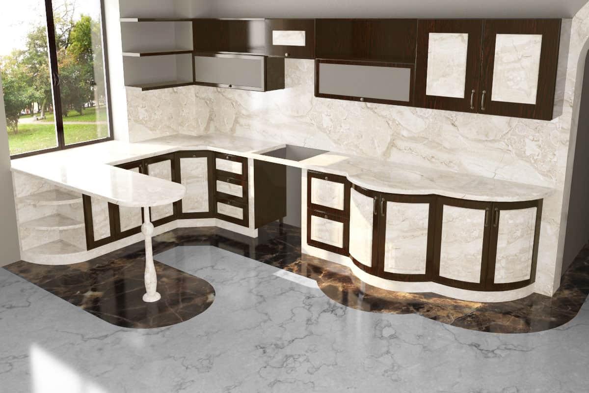 Гранит мрамор или кварц как выбрать материал для столешницы. изображение, фото 3