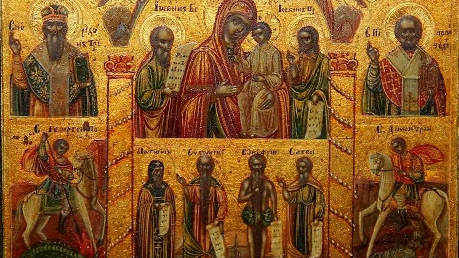 Икона Богородицы В скорбех и Печателех Утешение, фото, изображение, фото, изображение 1
